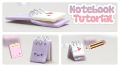 Notebook Charm Tutorial... How to make cute charms shaped as notebooks!