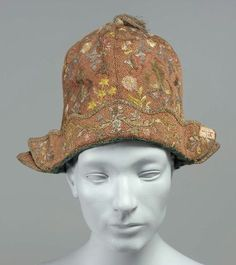 Man's cap Italian or French, late 17th or early 18th century
