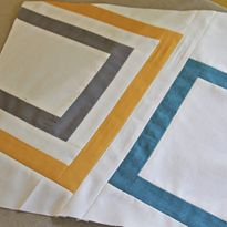 MODERN Block of the Month (April) -- Red, Linen, Scarlet, Cranberry, Black. -- Mother, Nephew. -- from SewMamaSew.com