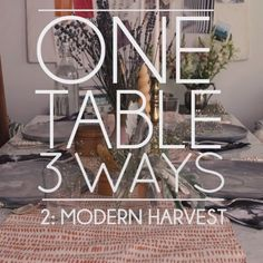 3 stylish ways to set your holiday table. Girls Bedroom, Bedroom Decor, European Home Decor, Holiday Tables, Living Room Furniture, Rustic, Stylish, House Styles, Creative