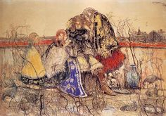 Witold Wojtkiewicz - A Knight's Tale  Pastel on paper   From the cycle Ceremonies, 1908-09