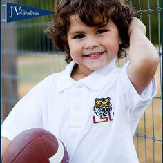 JV Clothiers LSU Boys White Polo