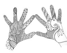 The different patterns that ink the hands are lovey. (by Barbara Carlson)