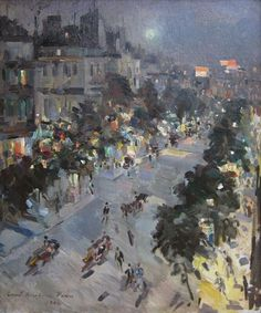 Константин Коровинコンスタンチン・コロヴィン(1861ー1939)「Париж ночью. Итальянский бульвар(パリの夜、イタリア通り)」(1906)