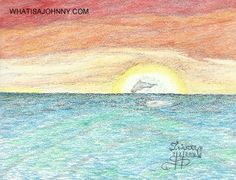 """There is nothing cooler then going to watching the sunset and getting to enjoy a dolphin show at the same time. Order your """"JOHNNY"""" now from whatisajohnny.com"""