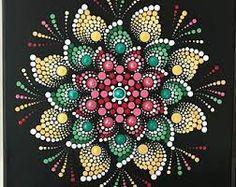 Dot mandala painting on black canvas. Acrylic paint on canvas. Mandala Doodle, Mandala Art Lesson, Mandala Canvas, Mandala Drawing, Mandala Painting, Dot Art Painting, Stone Painting, What Is A Mandala, Mandala Rocks