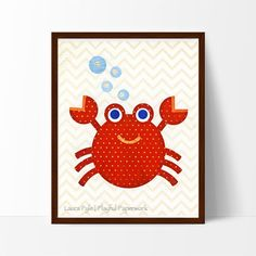 This charming, lovable crab will add a touch of whimsy to any nursery, playroom or kid's room.
