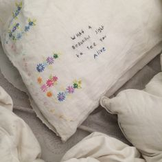 embroidery // stitching // words // sewing // photography // aesthetic // tumblr // art // grunge