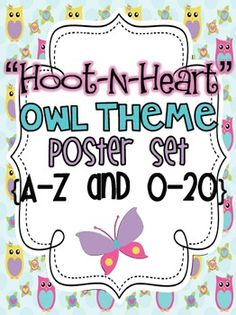 This is an adorable owl/heart themed poster set. It includes:8.5 X 11 Alphabet Posters (UC, LC, and Picture)8.5 X 11 Number Posters (Number, ...