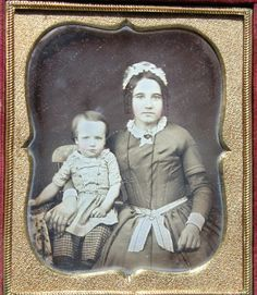 Occupational Sixth Plate Daguerreotype Nursemaid in Uniform with Her Charge | eBay