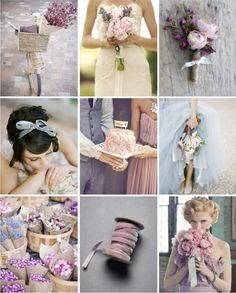This is it, these are the colors! Mauve, Pink & Grey Wedding Inspiration  This may be my new favorite. Especially with grey suits.