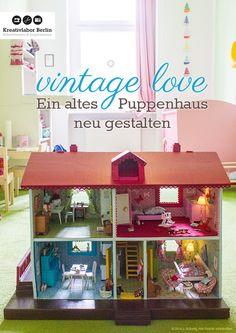 Ich habe fertig! Mein komplettes Projekt gibts heut im Blog http://www.kreativlaborberlin.de/vintage-love-ein-altes-puppenhauses-neu-gestalten/