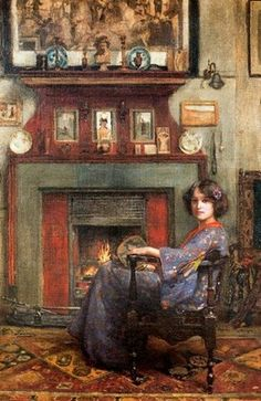 Casimiro Sainz y Saiz (1853-1898): 'By the Fireplace'