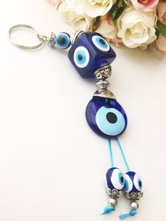 Jewelry Sets & More Trustful Evil Eye Turkey Evil Eye Keychain Water Blue Evil Eye Keyring Evileye Beads With Eye For Key Chain Ring Charms Car Key Chain