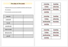 Teacher Destiny - Enseignante en ULIS Ecole TFM les jours de la semaine en anglais