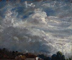 Constable, études de nuages, 1821, huile sur papier, Royal Academy of Art