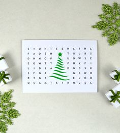 Geeky Christmas Card, Printable Christmas Card, Instant Download, Nerdy Card, Word Search Card, Interactive Card, Happy Holidays Card, UK Christmas Is Coming, Christmas Time, Christmas Gifts, Hygge Christmas, White Christmas, Christmas Nativity, Christmas Stockings, Holiday Ornaments, Christmas Decorations