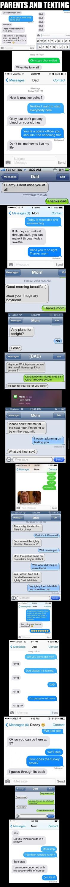 Parents and messaging