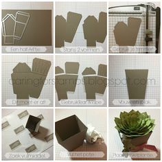 by Carmen: Oh So Succulent Bundle and Home Sweet Home Thinlits - all from Stampin' Up!Caring for Stamps: Spring/ Summer Catalog Countdown Stampin' Up! Paper Succulents, Paper Plants, 3d Paper Crafts, Paper Crafting, Flower Cards, Paper Flowers, Diy Fleur, Pop Up Card Templates, Fancy Fold Cards