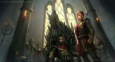 Robert and Joffrey Baratheon - naming the heir by r-chie