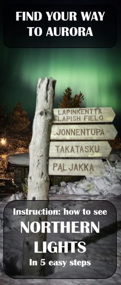 Shot made in Lapland, Finland. Find your way to see the Northern Lights. Easy guide for Aurora for everyone.