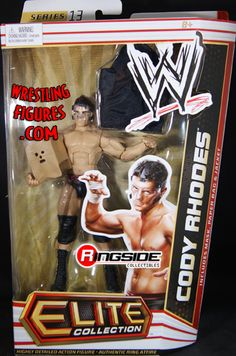 RINGSIDE COLLECTIBLES WWE Toys, Wrestling Action Figures, Jakks Pacific, Classic Superstars Action F: CODY RHODESELITE 13WWE Toy Wrestling Action Figure