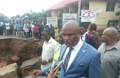 """By David Augustine  Sometime in April 2017 I drew attention to the menace of erosion ravaging Hospital road Abak along the Manta road axis at Midim Waterside. Then the erosion had eaten up a quarter of the road and making further frightening incursions into private properties along the road. Many residents of the area cried out but help was nowhere near.  In May precisely on May 17 2017 I again made another lighthearted post on the same road wherein I wrote """"This is Hospital Road Abak. It is…"""