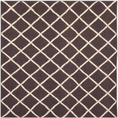 Safavieh Dhurrie Victor Flat Weave Moroccan Wool Area Rug, Brown