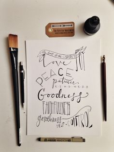 Fruit of the Spirit print, 8x10 hand lettered illustration, scripture art, Galations 5:22 ba't walang forgiveness? xD