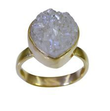 Druzy Gold Plated beauty wholesales Ring multi L-1in UK KMOQ