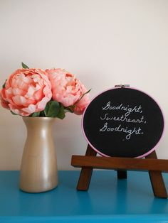 Nursery Embroidery Hoop Sweet Nursery Art Baby Embroidered Decor Baby Shower Gift Nursery Gallery Wall Hand Stitched Wall Art for Baby Girls