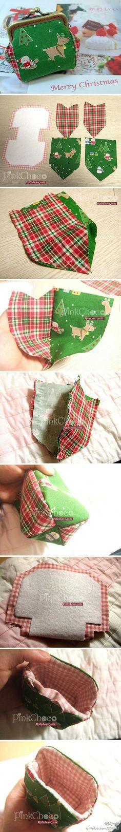 #PINKCOCO教程#圣诞可爱金口包...…_来自-跳蚤-的图片分享-堆糖网