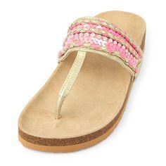 8dec123c2a36 Girls Embellished Luna T-Strap Sandal T Strap Sandals