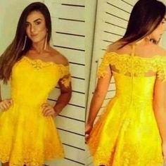 vestido amarelo sexy