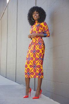 Inspiration - Robe fourreau Stella Jean par Style Pantry - Pagnifik