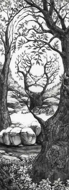 The sleeping Tiger illusion!.....Look carefully at  the drawing.....There are surprises :)