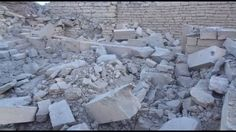 Saudi-American Coalition air force air strikes destroy historical archaeology sites in Yemen      Aythel (Baraqish)  1000 B.C  the oldest city in Yemen    Before         After 10 strikes