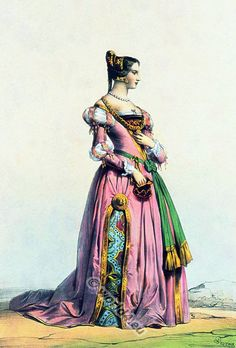 Belgian lady of the late fifteenth century fashion