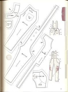 Выкройки из японских журналов для куклы Блайз. Часть 3 из 5. В подборку попало несколько выкроек неизвестной для меня куклы