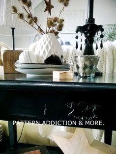 black vintage table, x-mas decoration