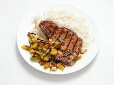 Pork Chops With Pineapple Salsa Recipe : Food Network Kitchens : Food Network - FoodNetwork.com