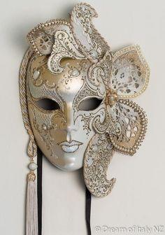 Venetian Masquerade Mask Volto Lusso Marlene #Italian #style #design #home #wall #decoration