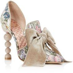 Tory Burch Women's Clara Sequined Floral Print High Heel Pumps