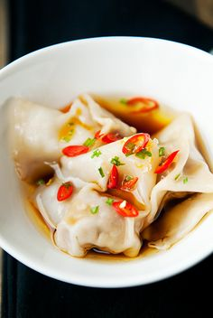 sichuan pork wontons recipe | use real butter