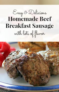 We eat breakfast-for-dinner pretty often. I finally tried making beef sausage because it was a breakfast-kind-of-night and I had some beef thawed in the fridge. I used 2 lbs of beef at first and the recipe on page 364 of Nourishing Traditions for Spicy L Sausage Recipes For Dinner, Homemade Sausage Recipes, Homemade Breakfast Sausage, Beef Recipes, Breakfast Recipes, Recipe For Beef Sausage, Breakfast Ideas, Sausage Making