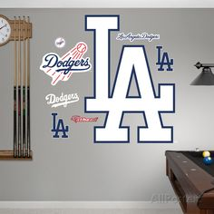 Los Angeles Dodgers Alternate Logo Mens Room Decorwall
