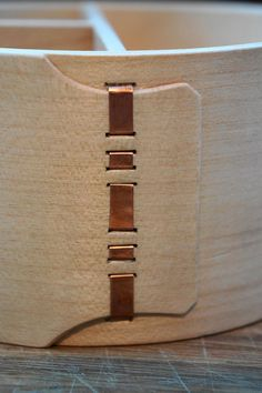 Copper thread strapping.