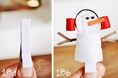 Snowman Ribbon Hair Clip // Easy to Follow Tutorial!