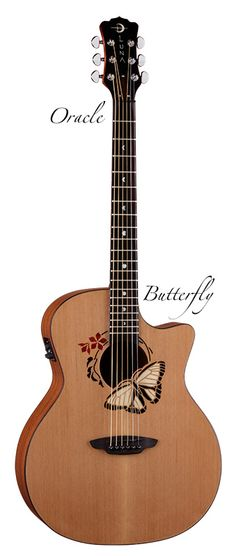 Luna Guitars - Oracle Butterfly - girly, yet strong and beautiful.