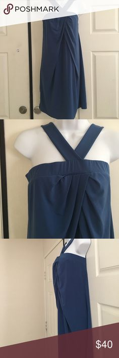 "New York & Company Blue Dress size S Sexy Blue Dress. Size S. Measurements laid flat from armpit to armpit 16"" and from strap down 38"". Only worn once New York & Company Dresses"